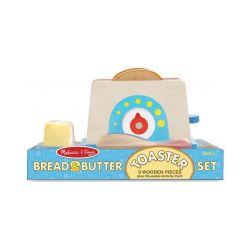 Drewniany toster, chleb i masło - Zabawka, od 3 lat