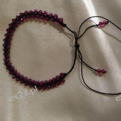 Delikatna bransoletka z małych rubinów Przedmioty ręcznie wykonane