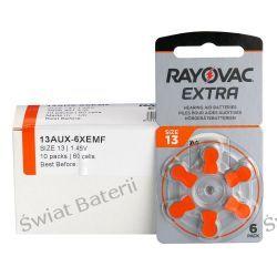 13 Rayovac X 60 bateria słuchowa cynkowo - powietrzna (zinc air) typu 13-paczka 60 szt/10x6 szt Pozostałe
