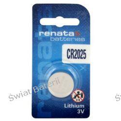 bateria litowa Renata CR2025(blister) x10 hurt/1,40zł-1szt Pozostałe