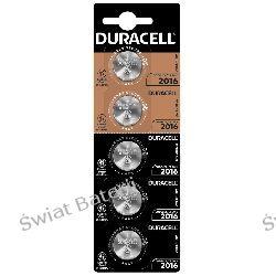 CR2016 Duracell blister 5 szt baterii litowych Baterie