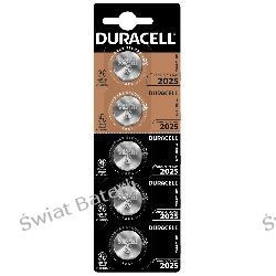 CR2025 bateria litowa blister 5 szt Duracell Baterie