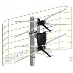 Zestaw Antena siatkowa DVB-T z symetryzatorem MUX8 mała AA (R6)