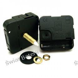 Mechanizm zegara ściennego-werk cichy,skokowy 16 mm Biżuteria i Zegarki