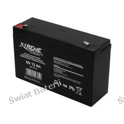 Akumulator żelowy 6V 12 Ah żelowy Xtreme  Akumulatory