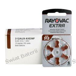 312 Rayovac X 6 szt bateria słuchowa cynkowo - powietrzna 1,45V Baterie