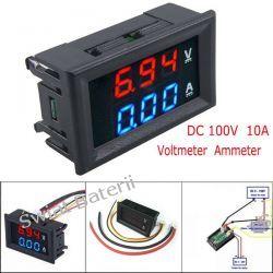 WOLTOMIERZ AMPEROMIERZ DC 0-100V 0-10A LED 2W1 RTV i AGD