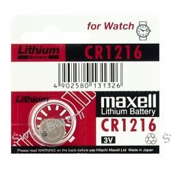 bateria litowa Maxell CR1216 Zasilanie