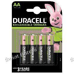 4 x akumulatorki Duracell Recharge R6/AA 1300 mAh (blister) Zasilanie