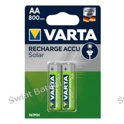 Akumulatorek Varta solar R6 AA Ni-MH 800 mAh - 1 sztuka Zasilanie