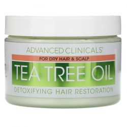 Advanced Clinicals, Tea Tree Oil, Detoxifying Hair Mask, 12 oz (340 g) Pozostałe