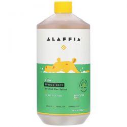 Alaffia, Kids Bubble Bath, Eucalyptus Mint, 32 fl oz (950 ml) Animowane