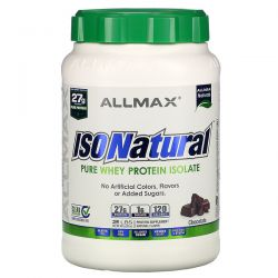 ALLMAX Nutrition, IsoNatural  Pure Whey Protein Isolate, Chocolate, 2 lbs (907 g) Pozostałe
