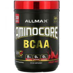 ALLMAX Nutrition, AMINOCORE BCAA, Fruit Punch, 0.69 lbs (315 g) Pozostałe