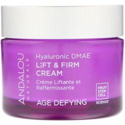 Andalou Naturals, Lift & Firm Cream, Hyaluronic DMAE, 1.7 oz (50 g) Pozostałe