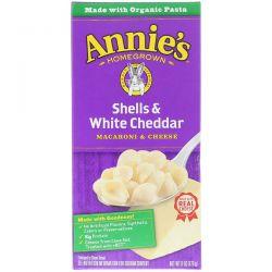 Annie's Homegrown, Macaroni & Cheese, Shells & White Cheddar, 6 oz (170 g) Pozostałe