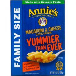 Annie's Homegrown, Macaroni & Cheese, Family Size, Classic Cheddar, 10.5 oz (298 g) Pozostałe
