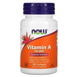 Now Foods, Vitamin A, 10,000 IU, 100 Softgels Pozostałe
