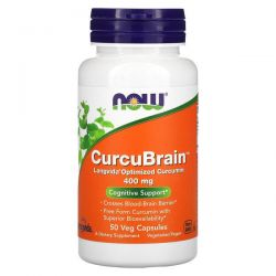 Now Foods, CurcuBrain, Cognitive Support, 400 mg, 50 Veg Capsules Pozostałe