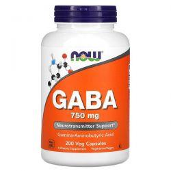 Now Foods, GABA, 750 mg, 200 Veg Capsules Pozostałe