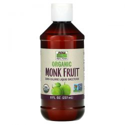 Now Foods, Real Food, Organic Monk Fruit, Zero-Calorie Liquid Sweetener, 8 fl oz (237 ml) Pozostałe