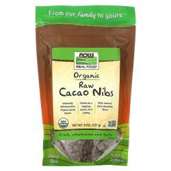 Now Foods, Real Food, Organic Raw Cacao Nibs, 8 oz (227 g) Pozostałe
