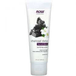 Now Foods, Solutions, Charcoal Detox Beauty Facial Mask, 4 fl oz (118 ml) Pozostałe