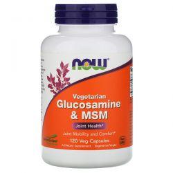 Now Foods, Vegetarian Glucosamine & MSM, 120 Veg Capsules Pozostałe