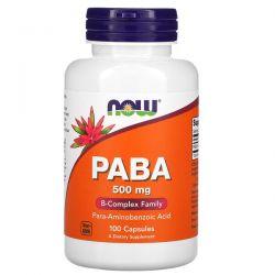 Now Foods, PABA, 500 mg, 100 Capsules Pozostałe