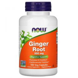 Now Foods, Ginger Root, 550 mg, 100 Veg Capsules  Pozostałe