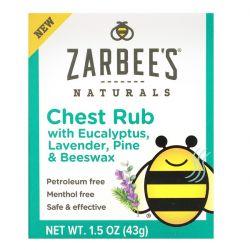 Zarbee's, Chest Rub with Eucalyptus, Lavender, Pine & Beeswax, 1.5 oz (43 g) Pozostałe