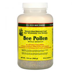 Y.S. Eco Bee Farms, Bee Pollen Granules, Whole, 10.0 oz (283 g) Animowane