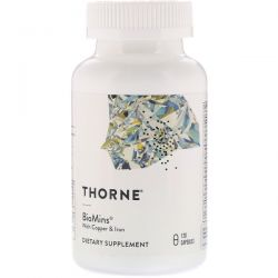 Thorne Research, BioMins with Copper & Iron, 120 Capsules
