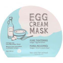 Too Cool for School, Egg Cream Beauty Mask, Pore Tightening, 1 Sheet, 0.98 oz (28 g) Pozostałe