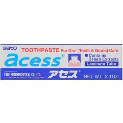 Sato, Acess, Toothpaste for Oral Care, 2.1 oz (60 g) Pozostałe
