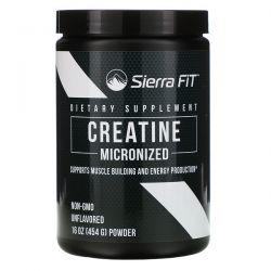 Sierra Fit, Micronized Creatine Powder, Unflavored, 16 oz (454 g) Pozostałe
