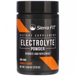 Sierra Fit, Electrolyte Powder, 0 Calories, Orange, 9.84 oz (279 g) Pozostałe