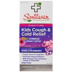 Similasan, Kids Cough & Cold Relief, Nighttime, Kids 2+, Grape Flavor, 4 fl oz (118 ml) Pozostałe