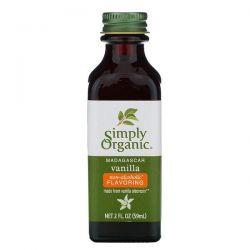 Simply Organic, Madagascar Vanilla, Non-Alcoholic Flavoring, Farm Grown , 2 fl oz (59 ml) Pozostałe