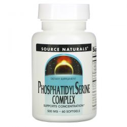 Source Naturals, Phosphatidyl Serine Complex, 500 mg, 60 Softgels Pozostałe