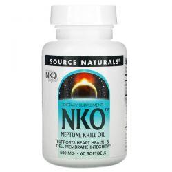 Source Naturals, NKO, Neptune Krill Oil, 500 mg, 60 Softgels Pozostałe