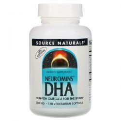 Source Naturals, Neuromins DHA, 200 mg, 120 Vegetarian Softgels Pozostałe