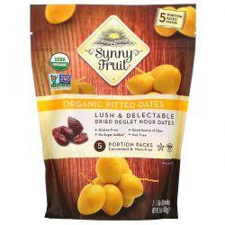 Sunny Fruit, Organic Pitted Dates, 5 Portion Packs, 1.76 oz (50 g) Each  Pozostałe