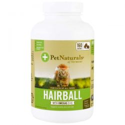 Pet Naturals of Vermont, Hairball for Cats, 160 Chews, 8.46 oz (240 g) Pozostałe