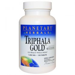 Planetary Herbals, Triphala Gold, GI Tract Wellness, 1,000 mg, 120 Tablets Pozostałe