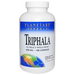 Planetary Herbals, Triphala, GI Tract Wellness, 500 mg, 180 Capsules Pozostałe