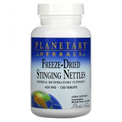 Planetary Herbals, Freeze-Dried Stinging Nettles, 420 mg, 120 Tablets Pozostałe