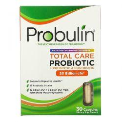 Probulin, Total Care Probiotic, 20 Billion CFU, 30 Capsules Animowane