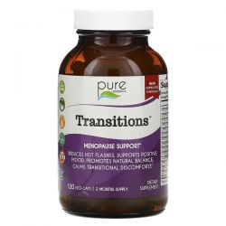 Pure Essence, Transitions, Menopause Support, 120 Vegi-Caps Pozostałe