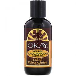 Okay Pure Naturals, 100% Pure Black Jamaican Castor Oil, 4 oz (118 ml) Pozostałe